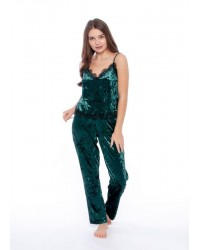 Пижама велюр зеленая 5064 Serenade